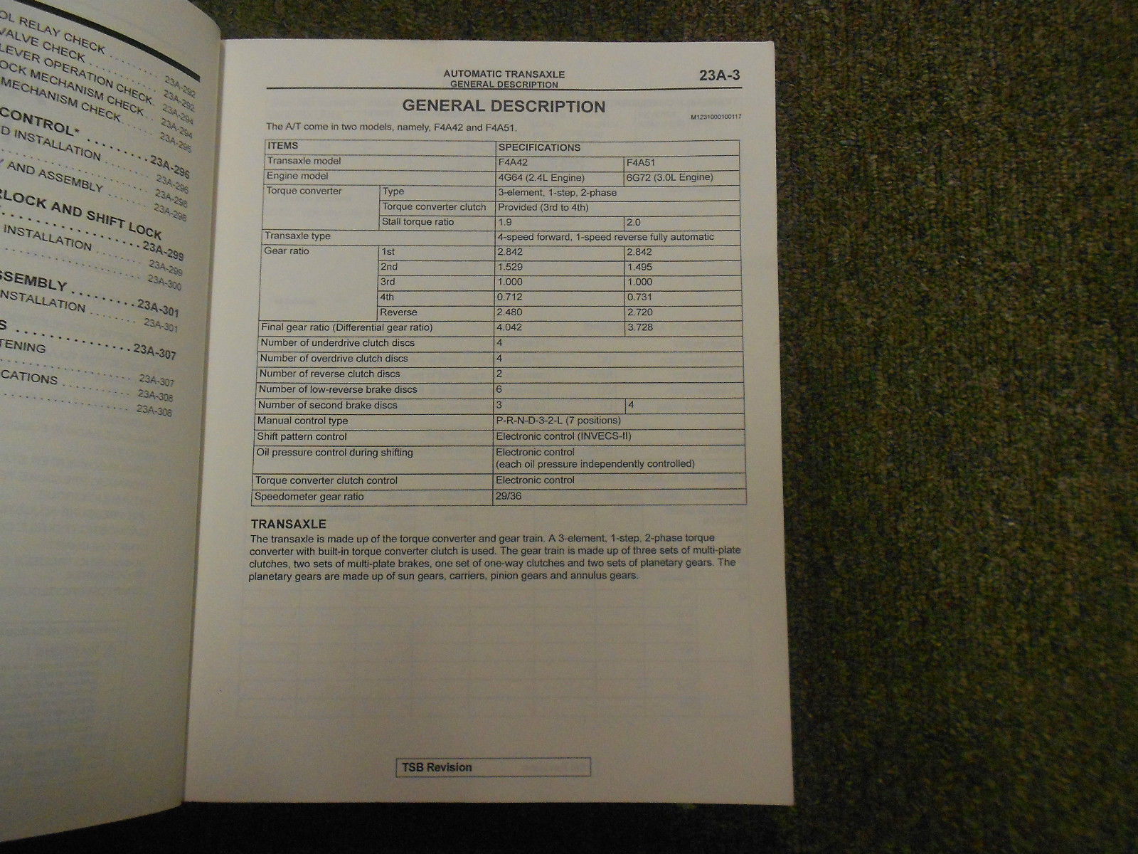2002 MITSUBISHI Galant Service Manual FACTORY OEM VOLUME 3 FACTORY OEM BOOK 02 image 6