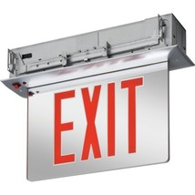 Lithonia Lighting Led Recessed Edge-Lit Exit Sign, Red - $236.49