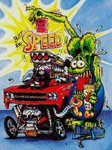 Rat Fink Built for Speed, Big Daddy Ed Roth Metal Sign - $35.95