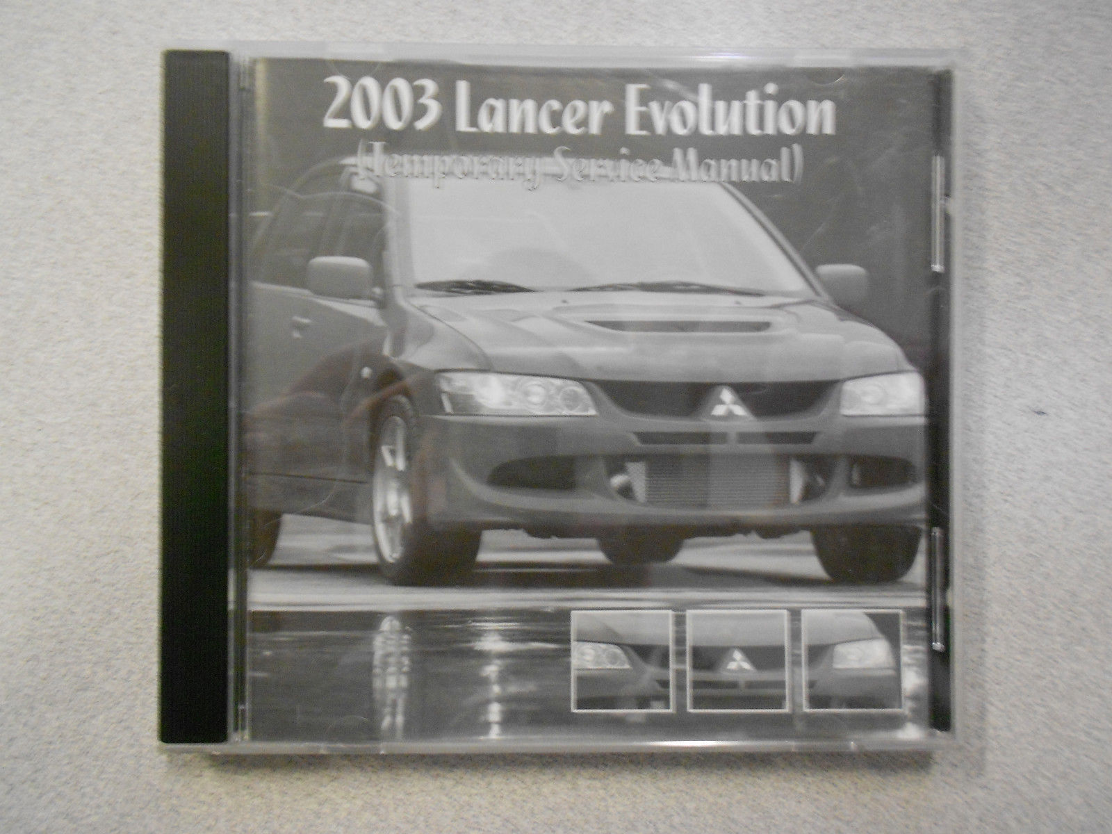 2003 MITSUBISHI LANCER EVOLUTION Temporary Service Manual CD FACTORY OEM 04