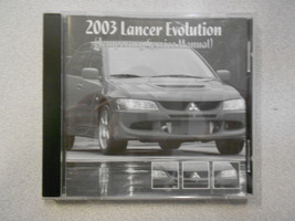 2003 MITSUBISHI LANCER EVOLUTION Temporary Service Manual CD FACTORY OEM 04 - $197.95