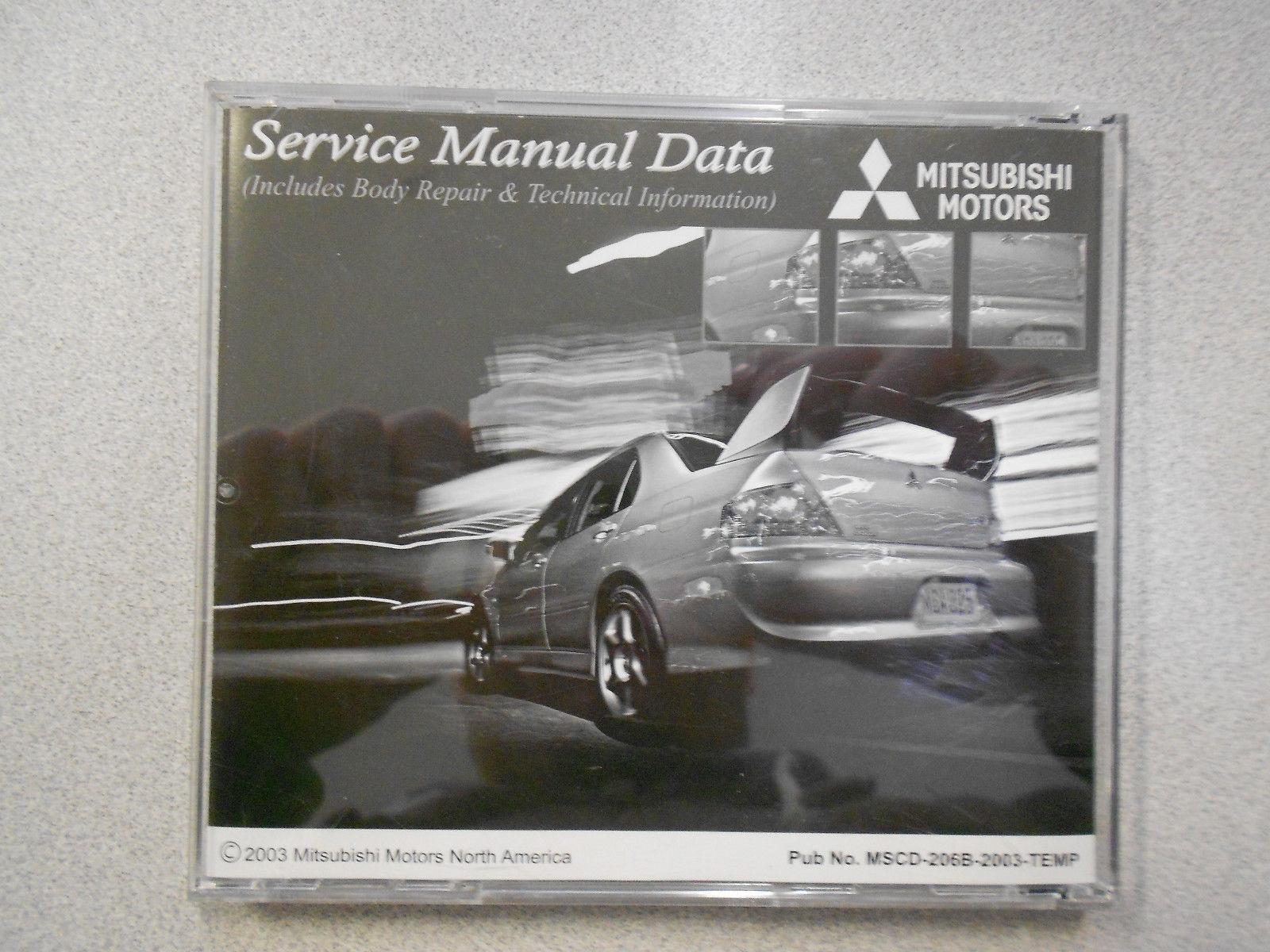2003 MITSUBISHI LANCER EVOLUTION Temporary Service Manual CD FACTORY OEM 04