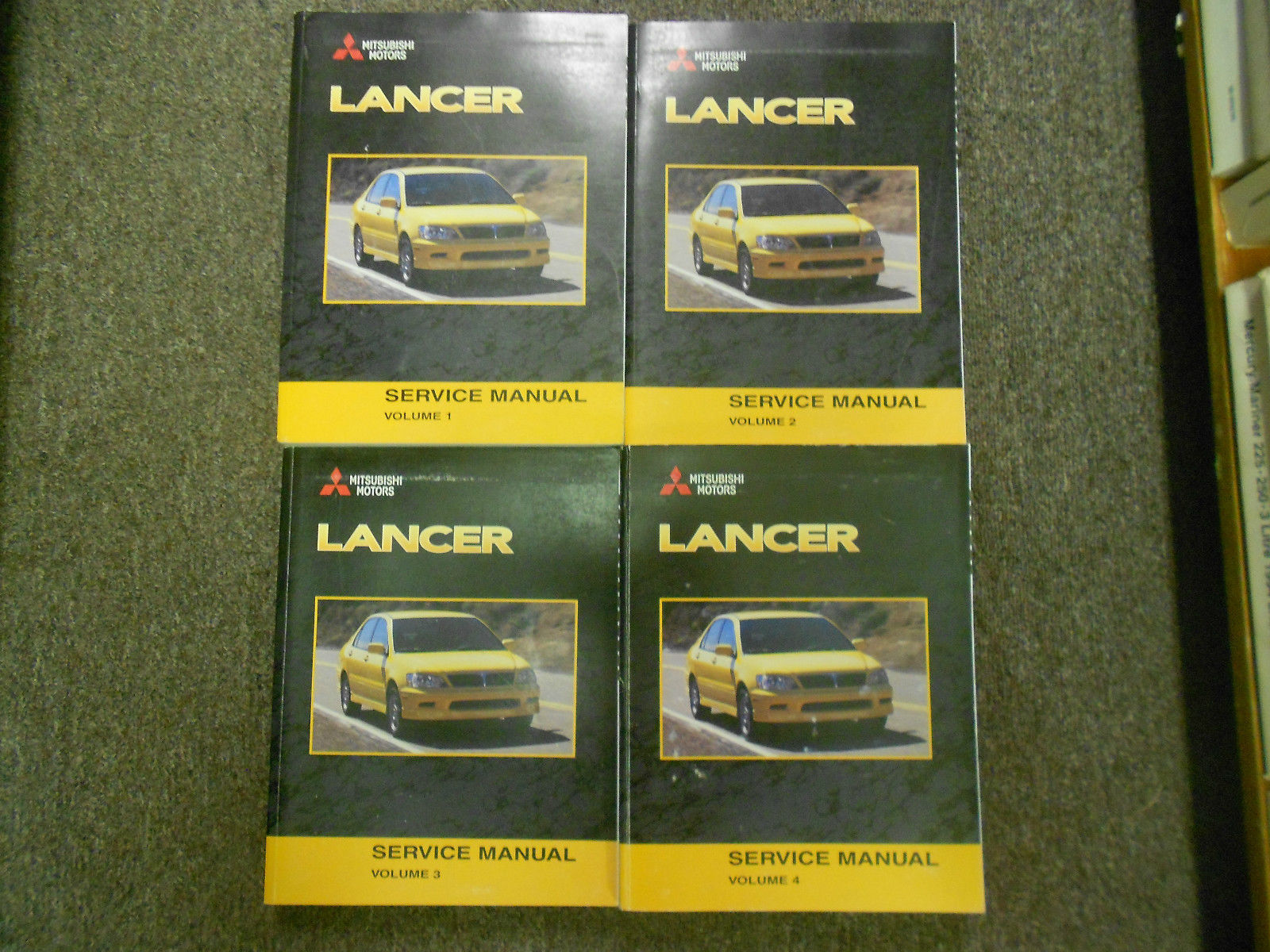 2003 MITSUBISHI Lancer Service Repair Shop Manual FACTORY OEM 4 VOL SET BOOK x