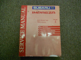 2003 Subaru Impreza Transmission Section 4 Service Manual WATER DAMAGED ... - $19.76