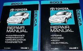 2003 Toyota Celica Service Repair Shop Manual Set Oem Factory 03 Book Huge New - $247.50