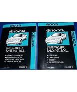 2003 TOYOTA CELICA Service Repair Shop Manual Set OEM FACTORY 03 BOOK HU... - $247.50