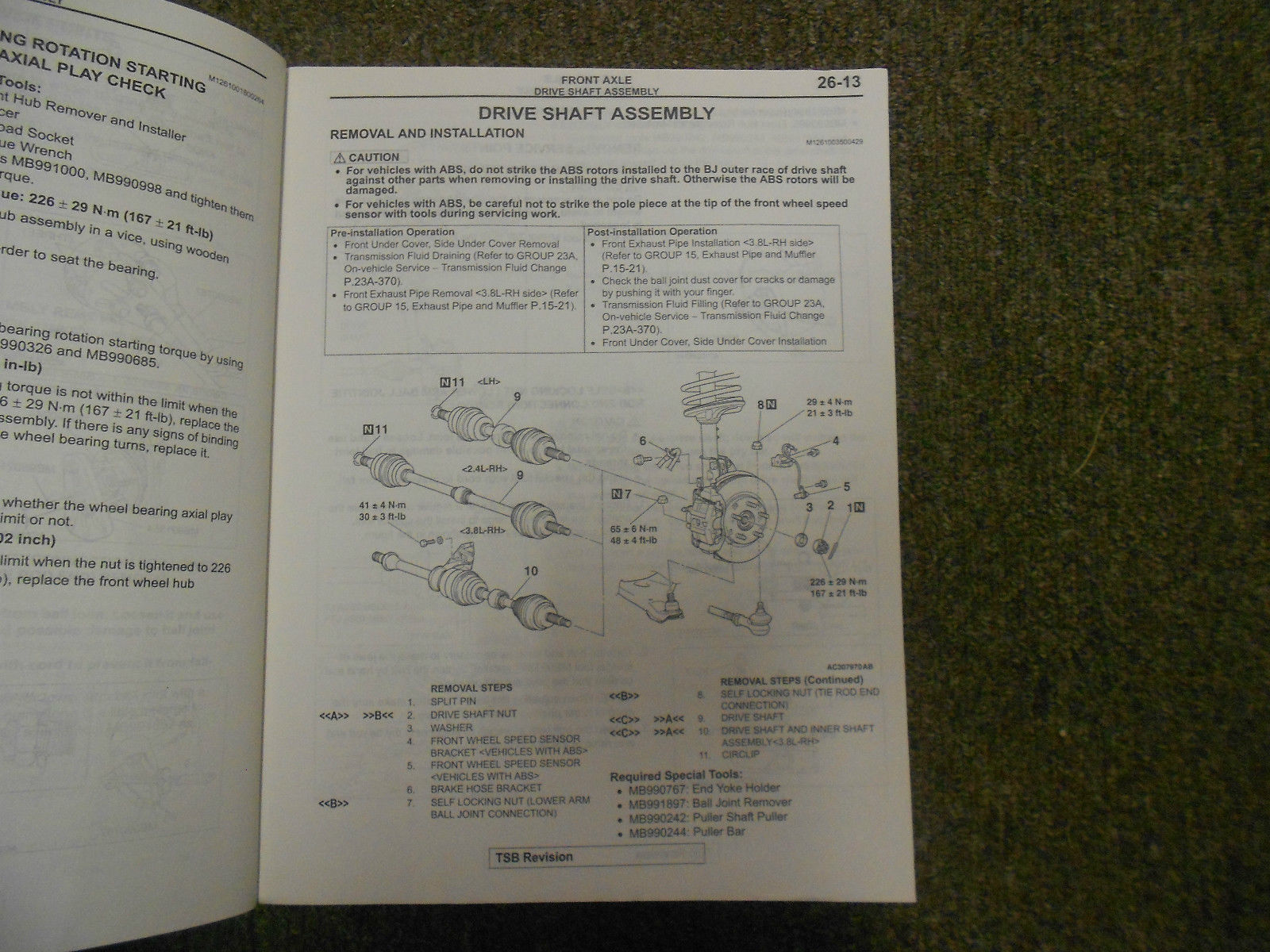 2004 MITSUBISHI Galant Service Repair Shop Manual VOL 3 OEM 04 FACTORY OEM 04 image 10