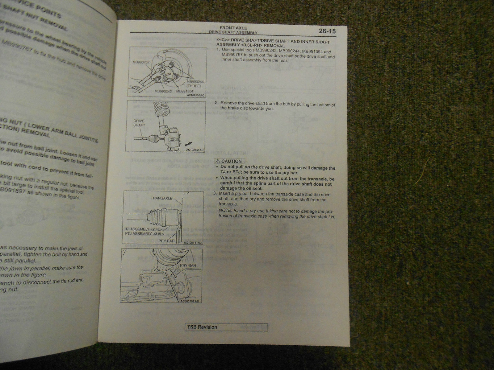 2004 MITSUBISHI Galant Service Repair Shop Manual VOL 3 OEM 04 FACTORY OEM 04 image 11