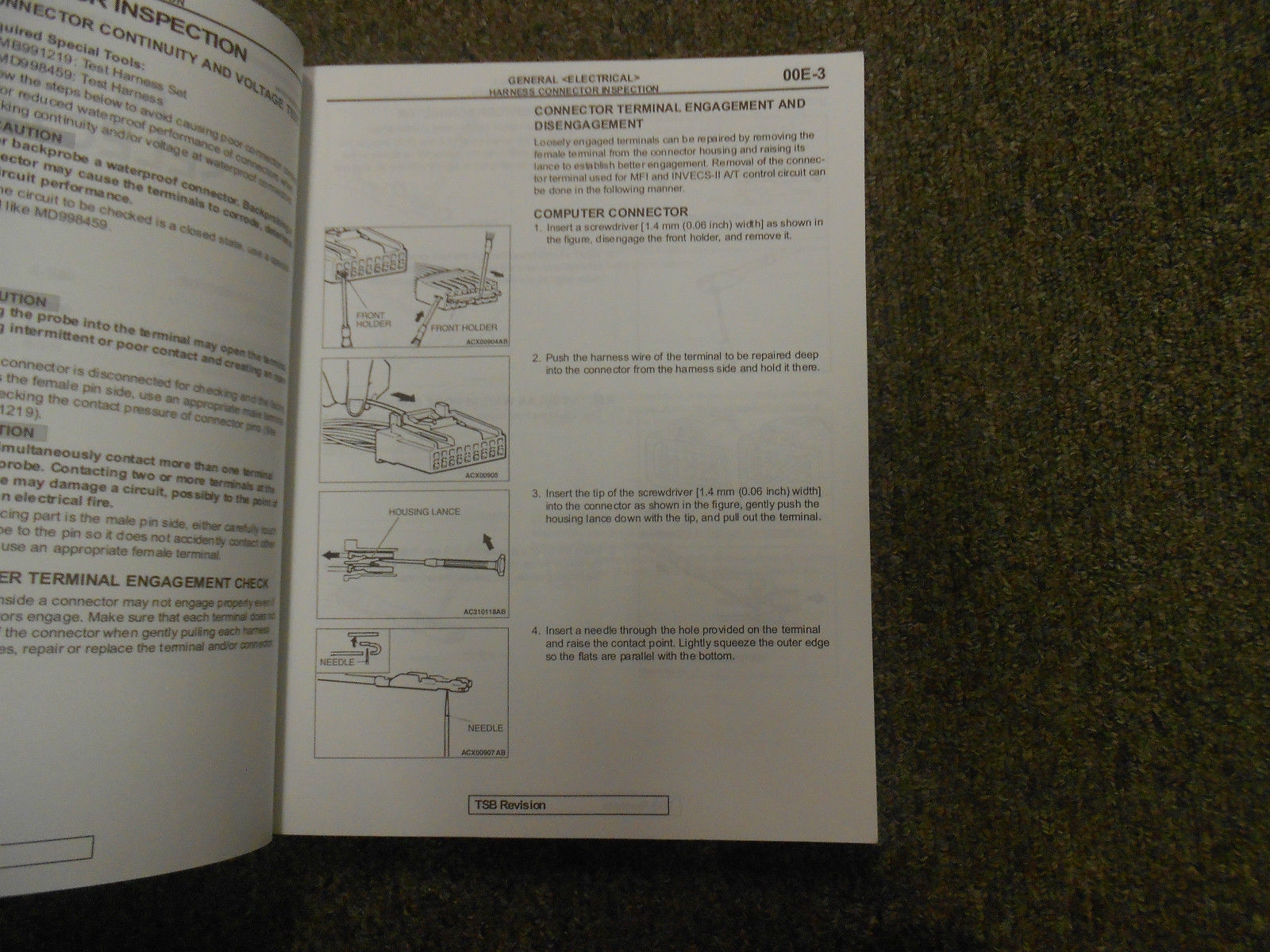 2005 MITSUBISHI Galant Electrical Supplement Service Repair Shop Manual OEM 05