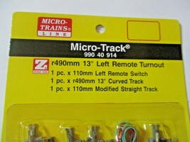 Micro-Trains Micro-Track # 99040914 Turnout Left Hand R490mm 13 Degree Z-Scale image 2