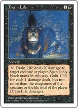 Magic The Gathering-5th Edition-Drain Life - $0.19