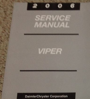 2006 DODGE VIPER Service Shop Repair Workshop Manual Brand New