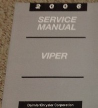 2006 DODGE VIPER Service Shop Repair Workshop Manual Brand New - $247.45