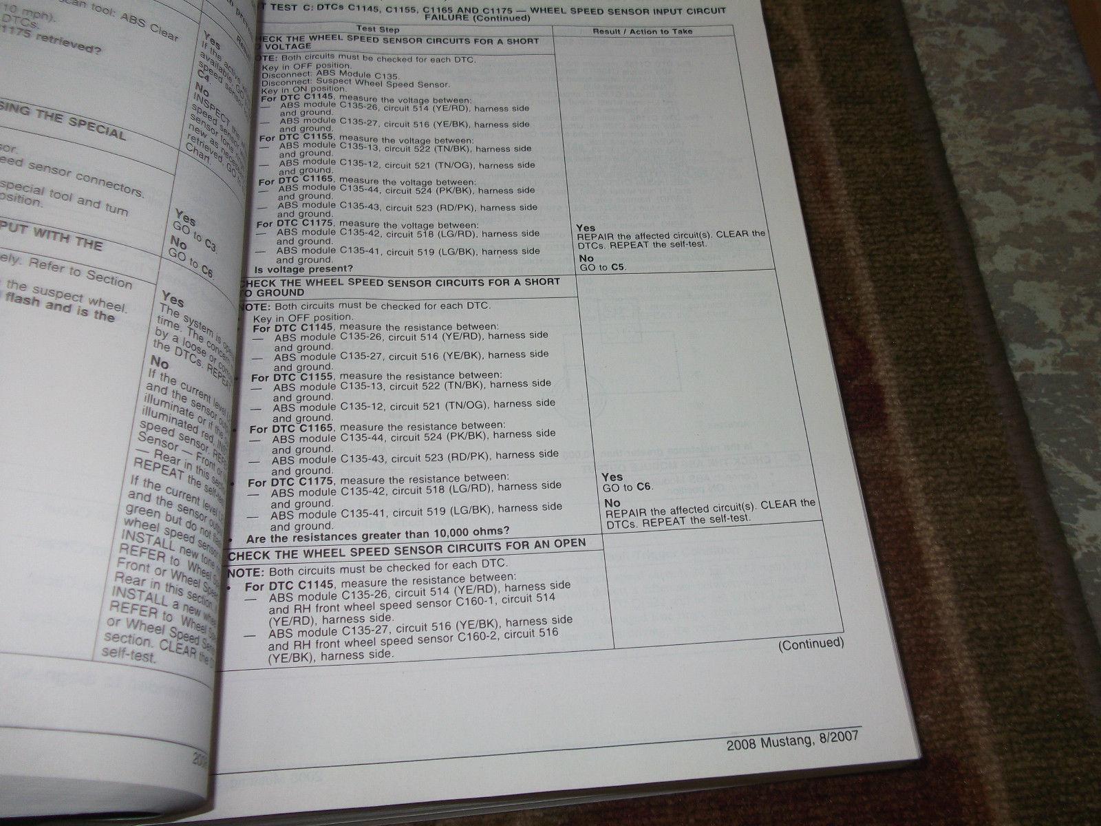 2008 ford mustang gt cobra mach service shop repair manual. Black Bedroom Furniture Sets. Home Design Ideas