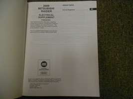 2008 MITSUBISHI Raider Electrical Supplement Service Repair Shop Manual OEM EWD image 3