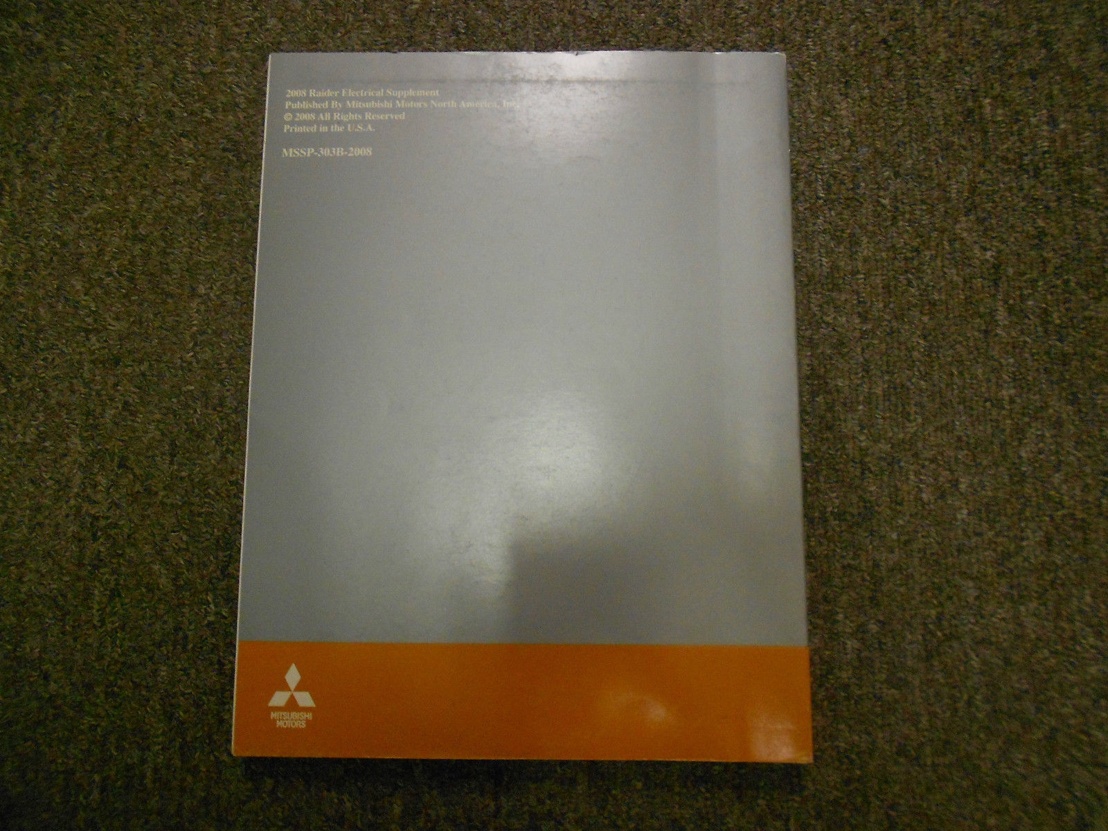 2008 MITSUBISHI Raider Electrical Supplement Service Repair Shop Manual OEM EWD