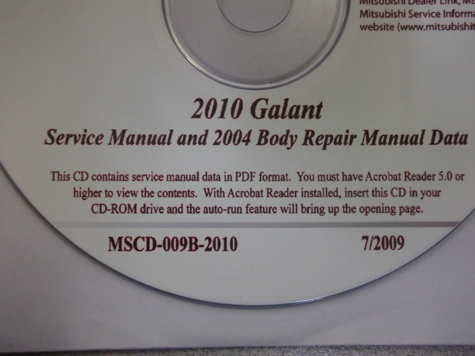 2010 2004 MITSUBISHI GALANT Service Shop Manual CD FACTORY OEM BARGAIN 10 04