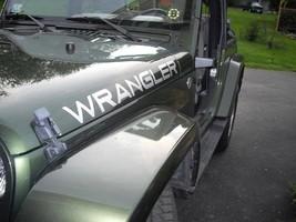 Set of Jeep Wrangler hood Truck Vinyl Stickers Decals CJ TJ JK 4x4_silver  - $22.99