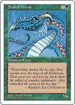 Magic The Gathering-5th Edition-Scaled Wurm - $0.09
