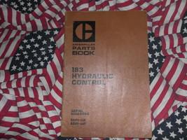 Caterpillar 183 Hydraulic Control Part Book 59P 60P - $14.84