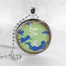 PETER PAN Necklace, Glass Photo Art Pendant, Peter Pan Jewelry, Peter Pa... - $9.95