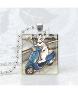 RABBIT Pendant, Rabbit Jewelry, Bunny Jewelry, Scrabble Tile Art Pendant... - $9.95