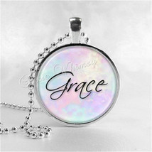 GRACE Inspirational Word Necklace, Inspirational Jewelry, Grace Pendant,... - $9.95
