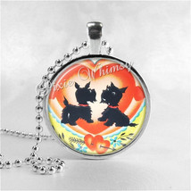 Scotty Dog Necklace Art Pendant Jewelry with Ball Chain, Scottish Terrier Jewelr - $9.95