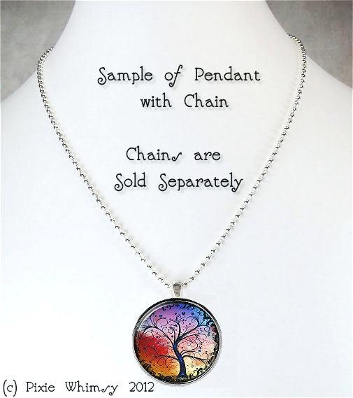 Flamingo Necklace Art Pendant Jewelry with Ball Chain, Pink Flamingos, Bird Jewe image 2