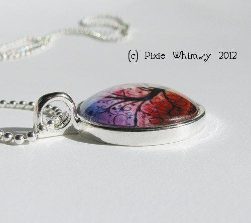 Flamingo Necklace Art Pendant Jewelry with Ball Chain, Pink Flamingos, Bird Jewe image 5