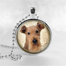 WELSH TERRIER Necklace, Dog Jewelry, Dog Pendant, Dog Charm, Glass Bezel... - $9.95