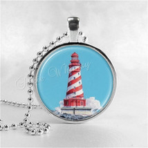 LIGHTHOUSE Necklace, Lighthouse Jewelry, Nautical Jewelry, Vintage Light... - $9.95