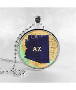 ARIZONA STATE Necklace, I Love Arizona, Arizona Map Jewelry, Arizona Pen... - $9.95