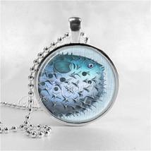 PUFFER FISH Necklace, Puffer Fish Necklace, Puffer Fish Pendant, Puffer ... - $9.95