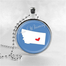 MONTANA STATE Necklace, I Love Montana, Montana Map Jewelry, Montana Pendant, Mo - $9.95
