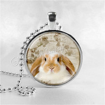 RABBIT Necklace, Lop Ear Rabbit, Lop Eared Rabbit, Rabbit Pendant, Rabbit Jewelr - $9.95