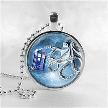 DOCTOR WHO TARDIS Necklace, Tardis, Dr Who Necklace, Octopus, Dr Who Jew... - $9.95