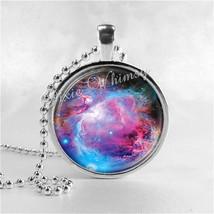 ORION NEBULA Necklace, Pendant Art Jewelry with Ball Chain, Nebula Jewel... - $9.95