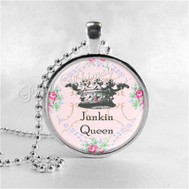 JUNKIN QUEEN Necklace, Thrift Shopping, Thrifting, Antiques, Junking, Qu... - $9.95