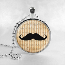 MUSTACHE Necklace, MOUSTACHE Necklace, Mustache Jewelry, Moustache Jewelry, Glas - $9.95