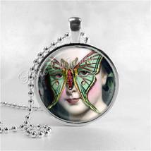 LUNA BUTTERFLY MOTH Necklace, Butterfly Woman, Butterfly Pendant, Butter... - $9.95
