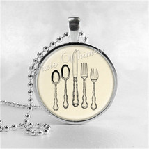 SILVERWARE Necklace, Place Setting, Knife, Fork, Spoon, Cutlery, Hostess... - $9.95