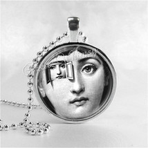 Fornasetti Face Necklace Art Pendant Jewelry with Ball Chain, A Differen... - $9.95