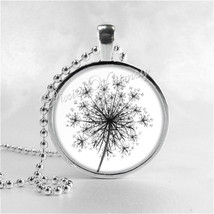 Queen Anne's Lace Necklace Art Pendant Jewelry with Ball Chain, Flower N... - $9.95