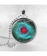 HELIX NEBULA GALAXY Jewelry Glass Tile Art Pendant Bezel Necklace with F... - $9.95