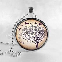 TREE Necklace, Tree Pendant, Tree Jewelry, Tree Charm, Photo Art Necklac... - $9.95