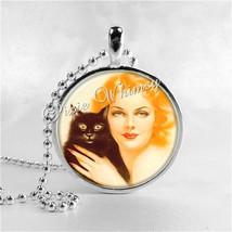 ART DECO Jewelry, Art Deco Cat, Black Cat Jewelry, Black Cat Necklace, B... - $9.95