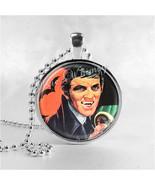 Dark Shadows Necklace Art Pendant Jewelry with Ball Chain, Barnabas Collins - $9.95