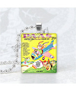 VINTAGE EASTER EGG Dye Color Scrabble Tile Art Pendant Charm Jewelry - $9.95