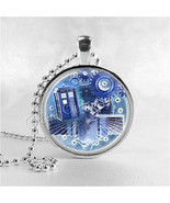 DOCTOR WHO TARDIS Necklace, Steampunk, Tardis, Dr Who Necklace, Dr Who J... - $9.95
